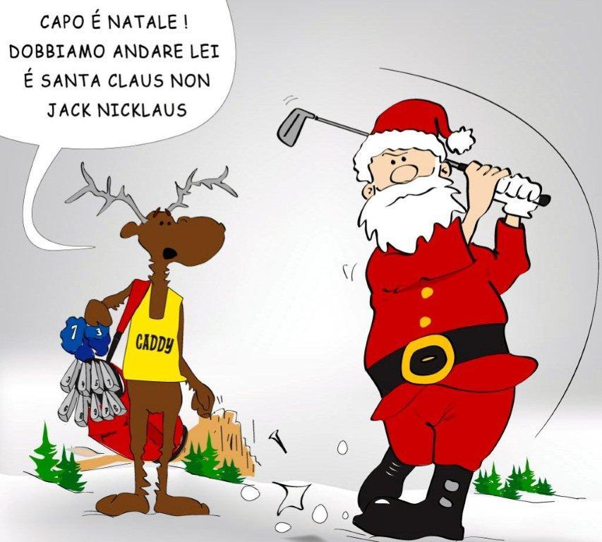 Auguri Di Buon Natale A Lei E Famiglia.Buon Natale Tra Santa Claus E Jack Nicklaus Golfpiu Il Golf Online